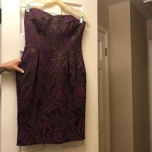 David Meister chocolate brown brocade dress!